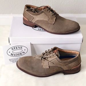 👞New STEVE MADDEN Mychel Nubuck Leather Derby